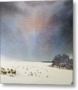 Winter Snow Swaledale Metal Print