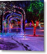 Winter Spirit At Locomotive Park Metal Print