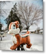 Winter Squirel Metal Print