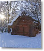 Winter Stable Metal Print