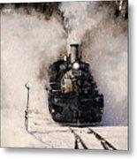 Winter Steam At Rockwood Colorado Metal Print