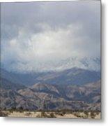 Winter Storm On Desert Mountain Metal Print