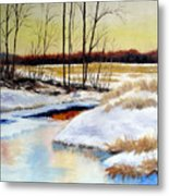 Winter Stream 1107 Metal Print