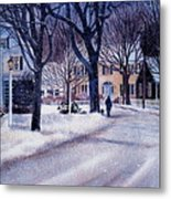 Winter Stroll Metal Print