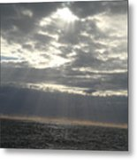 Winter Sun At Sea Metal Print