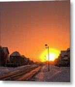 Winter Sun Glow Metal Print