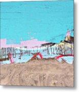 The Beach In Winter  Metal Print