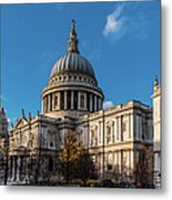Winter Sun St Paul's Cathedral Metal Print