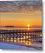 Winter Sunrise At The Beach Metal Print