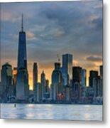 Winter Sunrise New York City Metal Print
