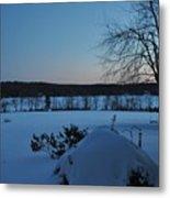Winter Sunrise On Demond Pond Metal Print