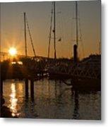 Winter Sunset At Annapolis Harbour Metal Print