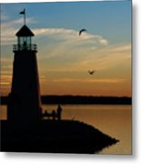 Winter Sunset At East Warf Metal Print