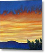 Winter Sunset In El Dorado Metal Print
