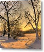Winter Sunset Metal Print by Jaroslaw Grudzinski