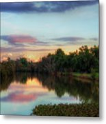 Winter Sunset On The Slough Metal Print