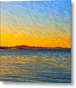 Winter Sunset Over Ipswich Bay Metal Print