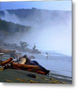 Winter Surf On Vancouver Island Metal Print