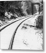 Winter Tracks Metal Print