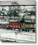 Winter Transport Metal Print