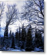 Winter Trees In Sweden Metal Print