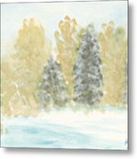 Winter Trees Metal Print by Ken Powers