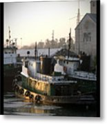 Winter Tugs Metal Print