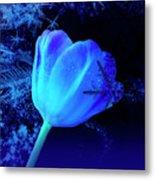 Winter Tulip Blue Theme 2 Metal Print