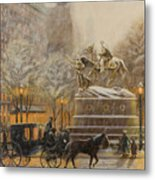 Winter Twilight At Grand Army Plaza Metal Print