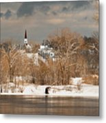 Winter View Of Allenstown Metal Print
