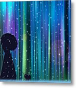 Winter Walk In The Magical Forest Metal Print