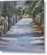 Winter Walk In The Woods Metal Print