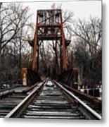 Winter Walk - Orange Metal Print