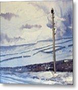 Winter Walkers Metal Print