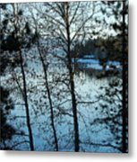Winter Water Blues Metal Print