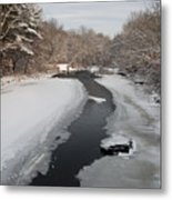 Winter Water Metal Print