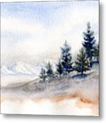 Winter Watercolor Painting Metal Print