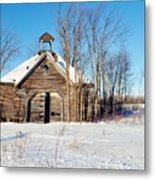 Winter Wisconsin Barn Metal Print