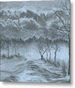 Winter With My Lover Metal Print
