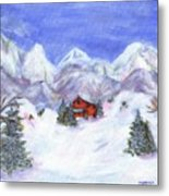 Winter Wonderland - Www.jennifer-d-art.com Metal Print