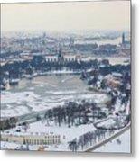 Winter Wonderland In Stockholm Metal Print