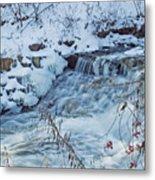 Winter Wonderland Of Minnehaha Falls  Metal Print