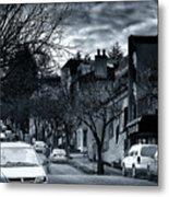Winter Yew Street Metal Print