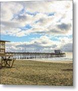 Winters Beach Metal Print