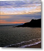 Winter's Beachcombing Metal Print