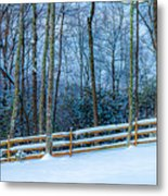 Winters Day - Pisgah Forest Nc Metal Print