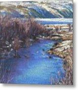 Winter's Edge, Flat Creek Jackson Metal Print