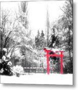 Winter's Entrance Metal Print