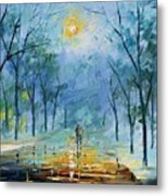 Winter's Fog Metal Print