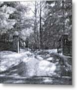 Winter's Gates Metal Print